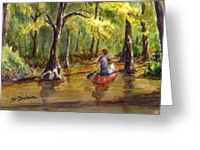Paddling Into The Swamp Greeting Card