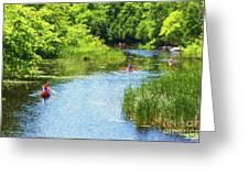 Paddling On A Calm Creek Greeting Card
