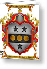 Paddock Family Crest Greeting Card