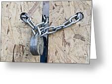 Padlock And Chain Greeting Card