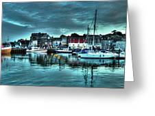 Padstow Harbour At Dusk Greeting Card