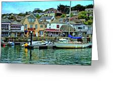 Padstow Harbour Slipway - P4a16023 Greeting Card