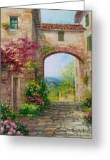 Paese In Toscana - Italy Greeting Card