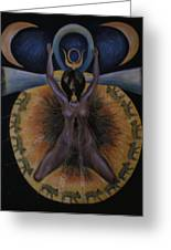 Pagan Mother Creation Myth Greeting Card by Barbara Nesin