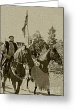 Pageantry In Sepia Greeting Card