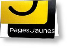 Pages Jaunes Greeting Card