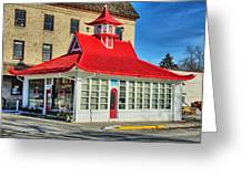 Pagoda Gas Station Greeting Card
