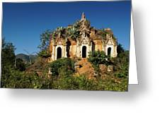Pagoda In Ruins Greeting Card