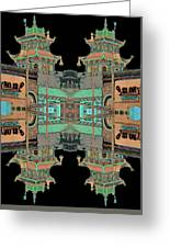 Pagoda Tower Becomes Chinese Lantern 1 Chinatown Chicago Greeting Card