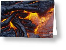 Pahoehoe Lava Texture Greeting Card