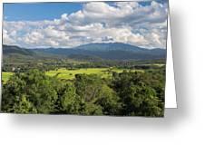 Pai Landscape View, Thailand Greeting Card