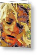 Pain By Mary Bassett Greeting Card