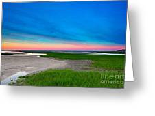 Paines Creek Sunset Cape Cod Greeting Card