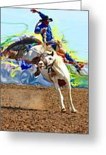 Paint Bucking Horse ... Montana Art Photo Greeting Card