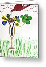 Paint By Wine Greeting Card