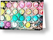 Paint Colors Greeting Card