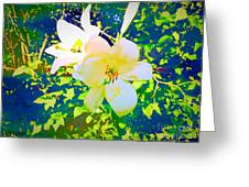 Paint Me In Water Color Said The Lilies To The Artist Greeting Card