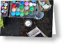 Paint Pots Greeting Card