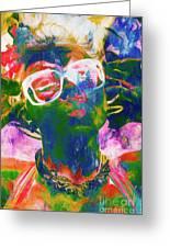 Paint Splash Pinup Art Greeting Card