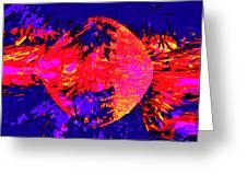 Paintball Splat Greeting Card