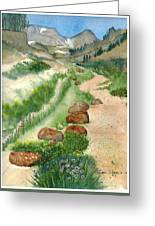 Paintbrush Trail Greeting Card