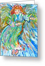 Painted Angel Greeting Card