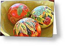 Painted Balls Greeting Card