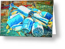 Painted Buoys Greeting Card