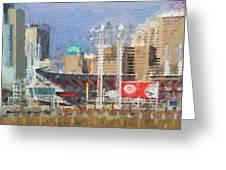 Painted Cincinnati Ohio Greeting Card