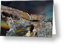 Painted Cliff Greeting Card