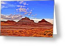 Painted Desert Colorful Mounds 003 Greeting Card