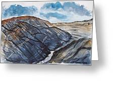 Painted Desert Landscape Mountain Desert Fine Art Greeting Card