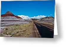 Painted Desert Road #3 Greeting Card