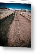Painted Desert Road #4 Greeting Card