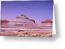 Painted Desert Tepees Greeting Card