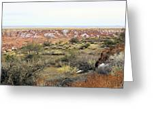 Painted Desert Winter 0571 Greeting Card