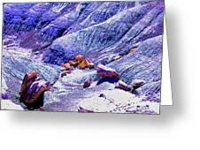 Painted Desert With Petrified Wood - Arizona Greeting Card