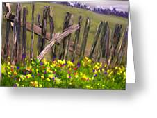 Painted Fence Greeting Card