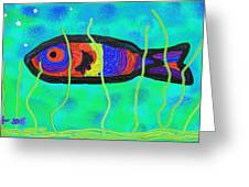 Painted Fish Greeting Card