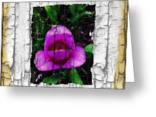 Painted Flower With Peeling Effect Greeting Card