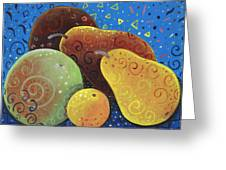 Painted Fruit Greeting Card