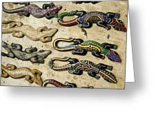 Painted Geckos Greeting Card