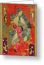 Painted Geisha Greeting Card by Roberta Baker