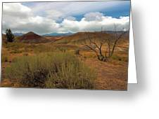 Painted Hills Landscape In Central Oregon Greeting Card