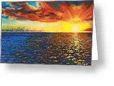 Painted Horizon Greeting Card