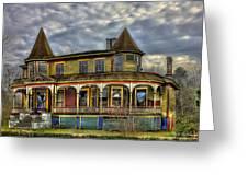 Painted House Sparta Georgia Greeting Card