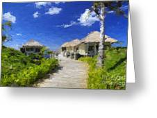 Painted Island Pathway Greeting Card