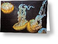 Painted Jelly Greeting Card