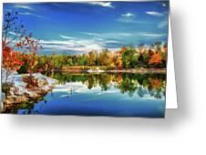 Painted Klondike Autumn Greeting Card