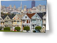 Painted Ladies Greeting Card